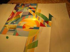 Entfalten statt liften!  Tagsüber arbeite ich in den Wagenhallen, nachts und morgens mache ich Malerei mit Wasserfarben, Digitale Kunst und Fotografie