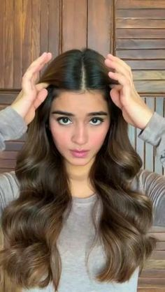 Party Hairstyles For Long Hair, Open Hairstyles, Cute Simple Hairstyles, Daily Hairstyles, Braids For Long Hair, Front Hair Styles, Medium Hair Styles, Curly Hair Styles, Hair Style Vedio
