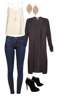 """""""Untitled #512"""" by netteskytte on Polyvore featuring Minnie Rose, River Island, Frame Denim, Giuseppe Zanotti, Humble Chic and Forever 21"""