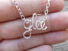 Glee Necklace Or Any Word or Name Silver by deannewatsonjewelry