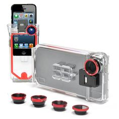 The Optrix PhotoX ($150) has more than just a waterproof case comes with two rofessional, all-glass lenses (macro and low-profile) to take truly high-quality photos with your phone.