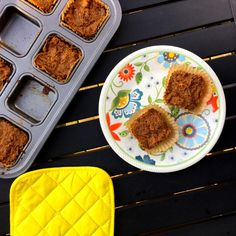 Sweet Potato Paleo Muffins: 6 pasture-raised eggs, 1/2 cup coconut oil - melted, 1 teaspoon vanilla extract, 1 cup of dates, ¼ cup of maple syrup, 3 cups shredded sweet potatoes, ¼ cup coconut flour, ¼ cup arrowroot flour, pinch of sea salt, 1/4 teaspoon baking soda, ½ teaspoon turmeric, 1/2 teaspoon cinnamon. Visit HealthyStacey.com for more paleo recipes!