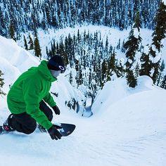 Taking risks #snowboarding