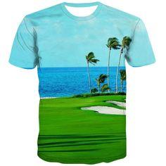 Golf T Shirts, 3d T Shirts, Printed Shirts, T Shirt Printer, Fashion Prints, Casual, Fabric, Pattern, Mens Tops
