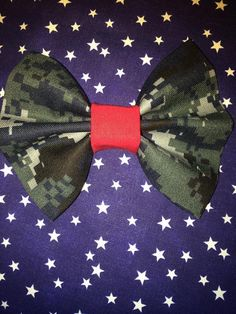 Red Friday Camo Bow by AnAnchorOfLove on Etsy, $6.75