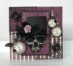 A cool card in purple and black with the new The Witching Hour collection