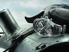 http://www.horloger-paris.com/fr/276-iwc-aviateur  #IWC #Aviator #Chronographe