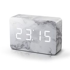 We think it's the perfect, unique and clever home accessory, especially if you don't like a bright light shining in your bedroom at night. But if you need to check the time in the middle of the night or early in the morning, you can just give a gentle tap to your bedside table and the time will appear.