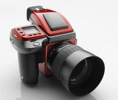 Created as a team up effort between Hassleblad and Ferrari, the Ferrari H4D camera looks absolutely stunning in black and red, Ferrari's signature color with the Ferrari shield. The camera can take multiple pictures over a period of 30 seconds, and the quality can actually be 200MP.