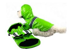 Designer Doggie Raincoats available in many colors/sizes & on sale w/ free shipping @Coupaw