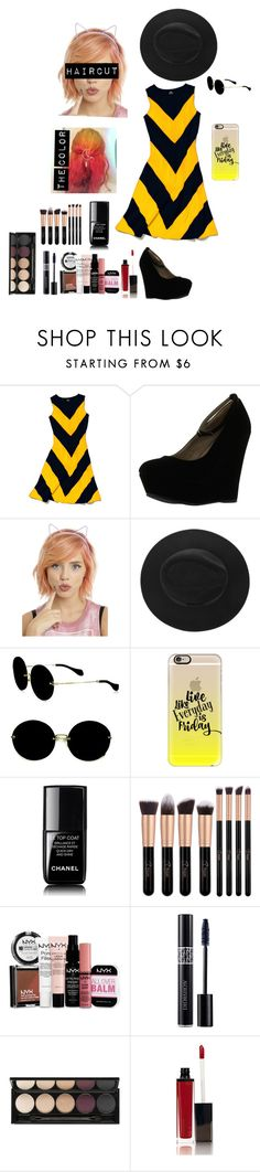 """""""Untitled #47"""" by g33kynerd ❤ liked on Polyvore featuring Slater Zorn, Delicious, Miu Miu, Casetify, Chanel, NYX, Christian Dior, Witchery and Laura Mercier"""
