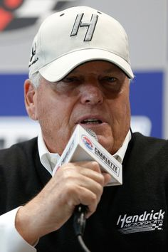 Rick Hendrick Photos Photos - NASCAR Hall of Fame inductee and team owner Rick Hendrick speaks with the media prior to the NASCAR Sprint Cup Series Coca-Cola 600 at Charlotte Motor Speedway on May 29, 2016 in Charlotte, North Carolina. - NASCAR Sprint Cup Series Coca-Cola 600