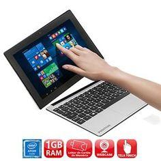 """Notebook 2 em 1 Touch Positivo Duo ZX3040 com Intel® Atom™ Quad Core, 1GB, 16GB SSD, Leitor de Cartões, Mini HDMI, Bluetooth, LED 10.1"""" e Windows 10"""