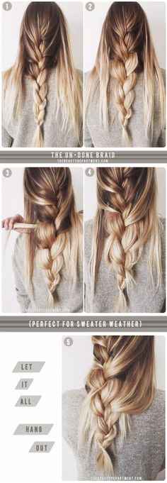 The un-done braid + sweater weather? Yes please.