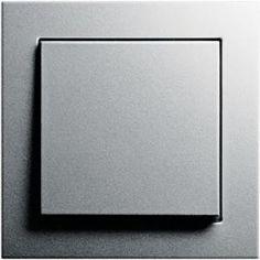 Gira E2 Schalter und Rahmen grau / silber Kunststoff