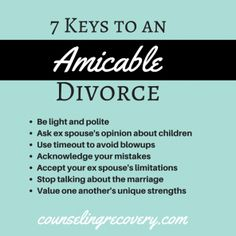 7 Keys to Creating An Amicable Divorce: Guest Post Dr. Coping With Divorce, Divorce And Kids, Leadership, Separation And Divorce, Legal Separation, Divorce Mediation, Divorce Process, Be Light, Divorce Quotes