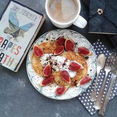 pancakes, coconut yogurt and figs!