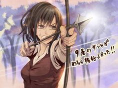 Sasha Braus archer now and arrow manga Ymir, Aot Characters, Female Characters, Mikasa, Eremika, Attack On Titan Fanart, Ghost In The Shell, Background Images, Les Oeuvres
