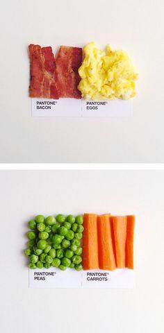Pantone Food Pairings by #DavidSchwen | Inspiration Grid | Design Inspiration