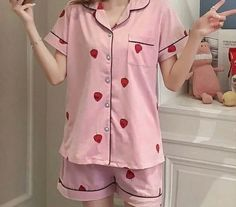Cute Sleepwear, Sleepwear Women, Pajamas Women, Classy Outfits, Cool Outfits, Fashion Outfits, Night Suit For Women, Ropa Interior Babydoll, Mode Ulzzang