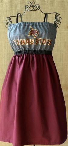 Texas State Tshirt Dress- Gameday dress