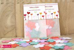 Een trouwbedankje met bloemzaadjes, erg leuk en origineel om uit te delen tijdens een bruiloft in het lente, of zomer seizoen!