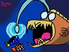 the angler fish  #pixar #toystory #toy #story #toystory2 #toystory3 #abugslife #cars #car2 cars3 #up #findingnemo #findedingdory #walle #cgi #monsersinc #theincredibles #ratatouille #insideout #thegooddinosaur  #animatedmovie #animated #movie #johnlasseter #stevejobs #waltdisney #walt  #disney #disneyandpixar