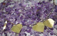 Gentileschi #LeBronzerie Cuori in ottone martellato su filo d'argento