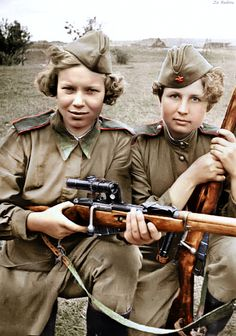The Red Army had over women snipers during World War II. -Respect for the women that bravely serve in our Military. Military, but respect anyway. Women In History, World History, World War Ii, Nagasaki, Hiroshima, Military Women, Military History, Ww2 Women, Red Army
