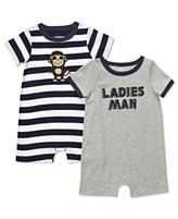 Carter's Baby Set, Baby Boys Monkey/Ladies Man 2 Pack Romper Set