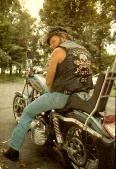 """You are bidding on """"an upfront interview with David Allan Coe"""" from 1978 This is uncensored and adult in nature and includes several color and B&W images, including DAC on his Harley, wearing hi. Biker Clubs, Motorcycle Clubs, Trucks And Girls, Big Trucks, David Allan Coe, Zombie Clothes, Outlaws Motorcycle Club, Old School Motorcycles, Street Racing Cars"""