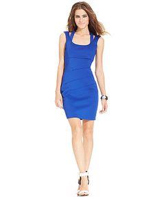 GUESS Scuba Cutout Body-Con Dress - Dresses - Women - Macy's - $63