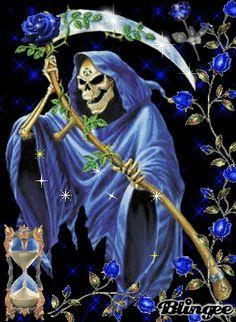 The Alchemy Gothic Reaper Cross Stitch Chart, Bn! Grim Reaper Art, Don't Fear The Reaper, Female Grim Reaper, Art Sombre, Alchemy Art, Dark Artwork, Skull Artwork, Skull Wallpaper, Memorial Tattoos