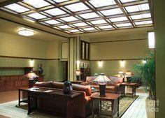 Park Inn, Mason City, Iowa, designed by Frank Lloyd Wright