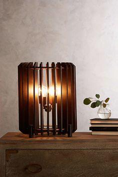 Slatted Woodchime Table Lamp