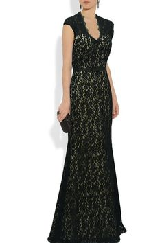 Black lace mother-of-the-bride dress - see more at http://themerrybride.org/2014/12/12/mother-of-the-bride-or-groom-dress-options/