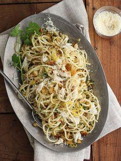 Crab Spaghetti with Lemon Gremolata - Italy