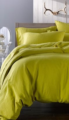 Merci Washed Linen Queen Size Duvet Cover / Nordstrom --I like this color for a bed Decor, White Linen Bedding, Bedroom Inspirations, Home, Bed, Interior, Duvet Covers, Home Bedroom, Bed Linen Sets