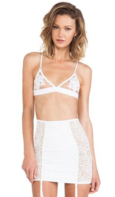 d54118864f SKIVVIES by For Love   Lemons Fleur Bra in White