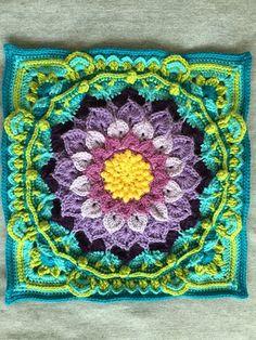 Transcendent Crochet a Solid Granny Square Ideas. Inconceivable Crochet a Solid Granny Square Ideas. Crochet Squares Afghan, Crochet Blocks, Granny Square Crochet Pattern, Crochet Motif, Crochet Designs, Crochet Flowers, Crochet Stitches, Knit Crochet, Crochet Patterns
