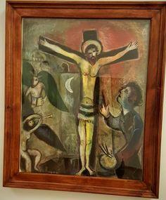Marc Chagall - Le Christ et el peintre 1951 at the Vatican Museum