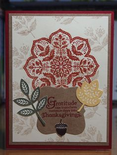 Fall thanksgiving used the day of gratitude stamp set be stampin up