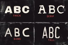 Acrylic SVG Font Collection - Hand-painted Font by Tom Chalky