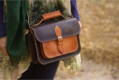 Vintage Handmade Genuine Leather Messenger Bag by MrLeatherBrand