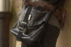ReNika: Nannini cross body bag (Photo: Oscar Medina Duarte) Cross Body, Crossbody Bag, Leather Jacket, Handbags, Jackets, Fashion, Studded Leather Jacket, Down Jackets, Leather Jackets