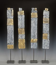 VIVA! Totems by Susan Madacsi: Metal Sculpture available at www.artfulhome.com