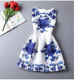 Find More Dresses Information about 2015 new fashion mini Women vestido Dresses Summer o neck party sleeveless Print Pleated A line slim Feminina Casual short Dress,High Quality dresses dress up,China dresses evening dresses Suppliers, Cheap dress logo from Trading you and me on Aliexpress.com