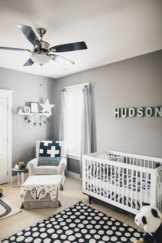 Neutral nurseries are the best kind to have! Forget your typical pink & blue--this light gray is so suiting. Paint the walls gray now & your kids won't outgrow it!