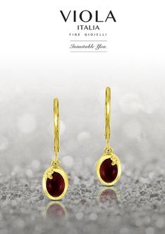 Radiating with a warm glow, these earrings from Viola Italia exude charisma and ardor effortlessly.
