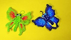 Rainbow Loom Charms Butterfly Tutorial by DIY Mommy.  This lady makes some really beautiful 3D designs! I am in love with this!